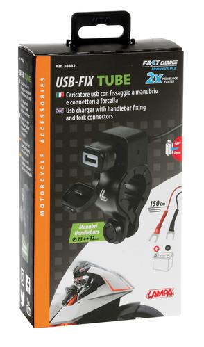 Lampa 38832 Presa USB da Moto con Fissaggio a Manubrio